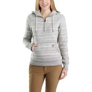 🆕️ Carhartt Women's Grey Half Zip Sweatshirt